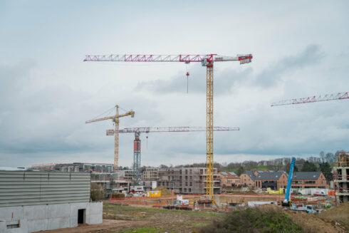 bouwproject aan een knooppunt